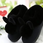 Autumn And Winter Cotton Slippers Female Cute Rabbit Warm Home Slip Indoor Bag With Month Shoes Fur Bag With Cotton Drag