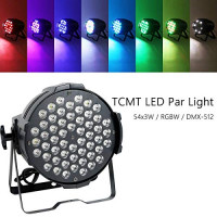 54x3W 200w LED Stage Par 64 Light DMX512 8CH RGBW Stage Washer Wedding DJ