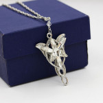 The Lord Of The Rings Elf Princess Twilight Star Necklace Twilight Star Short Men's Clavicle Chain
