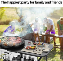 YITAHOME 22-inch Charcoal BBQ Grill for Outdoor Patio Backyard Picnic Camping Hiking Barbeque Cooking