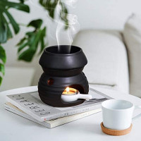 ComSaf Essential Oil Burner Wax Melt Burner with Candle Spoon, Aromatherapy Aroma Burner Ceramic Oil Diffuser Candle Tealight Oil Warmer Yoga Spa Home Bedroom Decor Christmas Housewarming Gift: Home & Kitchen