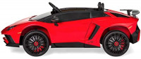 Best Choice Products Kids 12V Ride On Lamborghini Aventador SV Sports Car Toy w/ Parent Control, AUX Cable, 2 Speeds, LED Lights, Sounds - Red: Toys & Games