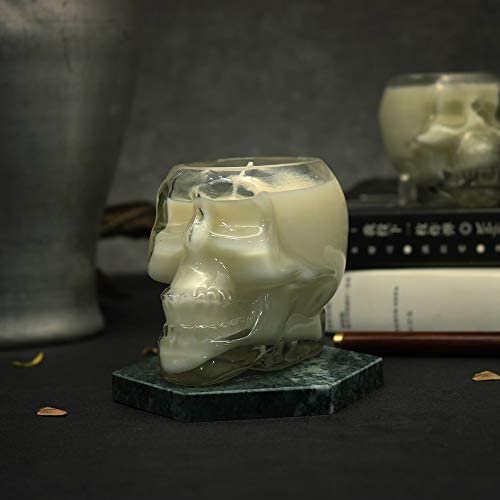 MSTR Skull-Shaped Candles (red), Halloween, Scary and Innovative Themed Decorative Candles, Interior and Exterior Skull Decorations (RED 2.5oz): Home & Kitchen