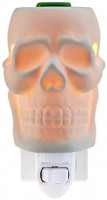 STAR MOON Plug in Wax Warmer for Halloween Décor, Candle Wax Warmer, Home Fragrance Diffuser, Bas-Relief Craft, No Flame, with One More Bulb, Skull: Home & Kitchen