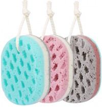 KECUCO 3 Pcs Bath Sponge for Women, Men, Sponge Loofah Body Scrubber Shower Sponge, 3 Colors & Large Size Shower Pouf Cleaning Loofahs Sponge Body Sponges for Shower Exfoliating: Health & Personal Care