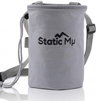 Static Mu Chalk Bag for Rock Climbing, Bouldering, Weightlifting, CrossFit, and Gymnastics | Durable Polyester Pouch with Zippered Pocket, Elastic Brush Holder, Drawstring Closure, and Quick Clip Belt : Sports & Outdoors