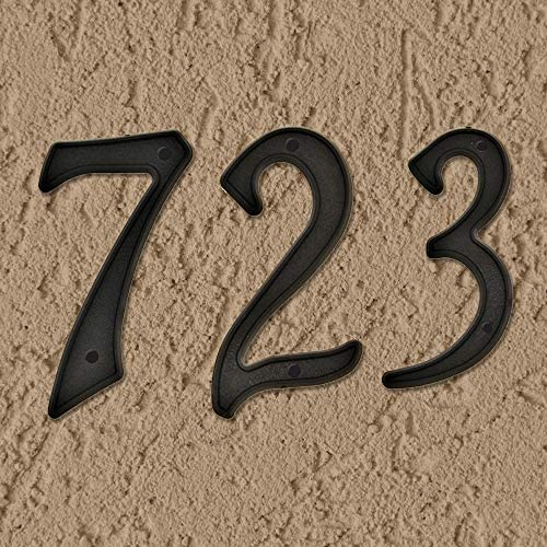 "Hy-Ko Products PN-29/4 Plastic House Number 4 (FOUR) 4"" High Black - House Numbers"