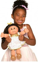 """Cabbage Patch Kids 14"""" Celebration Brown Eyed Kid - White & Gold: Toys & Games"""