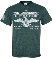 Patriot Apparel Eagle 2nd Amendment T-Shirt: Clothing