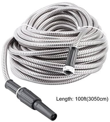 SHNORM Stainless Steel Garden Hose, Portable & Lightweight, Ultra Flexible and Tangle Free, Cool to Touch, Outdoor Hose(100FT) : Garden & Outdoor