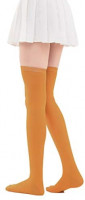 Women's Casual Over Knee High Socks Solid Knit Cotton Cosplay Thigh High Stockings(#1 White) at Women's Clothing store