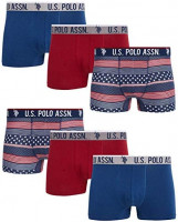 U.S. Polo Assn. Men's Cotton Stretch Trunk Underwear with Comfort Pouch (6 Pack): Clothing