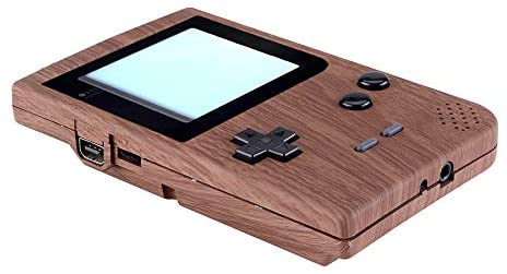 eXtremeRate Wood Grain Patterned Custom Full Housing Cover for Gameboy Pocket, Soft Touch GBP Replacement Shell for Game Boy Pocket w/Screen Lens & Buttons Kit - Handheld Game Console NOT Included: Computers & Accessories