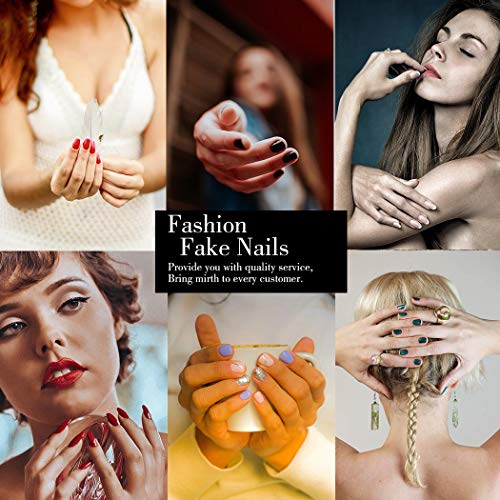 Press on Nails White Snowflake Coffin Fake Nails Christmas False Nails Full Cover Acrylic Nails for Women and Teen Girls (style 2) : Beauty