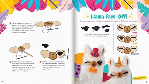 Klutz Sew Your Own Furry Llama Pillow Sewing & Craft Kit: Klutz: Toys & Games