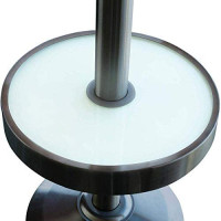 HYK 47, 000 BTU Outdoor Heater, Propane Patio Heater with Wheels and LED Table : Garden & Outdoor