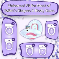 Yoni Steam Seat for Toilet | Vaginal Steaming Tub | Sitz Bath Basin for Hemorrhoids Soak and Postpartum Care | Space Saver Foldable Design which Fits Most Toilet Shapes: Health & Personal Care