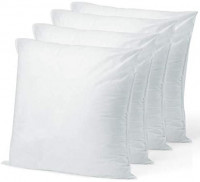 "Pillow Insert 18"" x 18"" Polyester Filled Standard Cover (4 Pack): Kitchen & Dining"