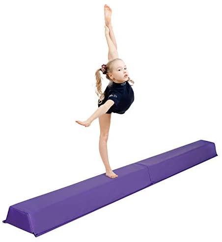 Oteymart 6 FT Folding Gymnastics Beam Extra Firm Balance Beam Bar Anti-Slip Design Foam Low Floor Home Gymnast Equipment for Kids Adults : Sports & Outdoors