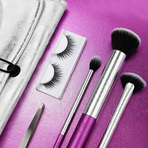 Real Techniques Lustrous Brush Set with Lashes and Tweezers Limited Edition by Sam and Nic: Beauty