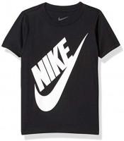 Nike Kids Boys Sportswear Graphic T-Shirt, Black, 7 Little Kids: Clothing