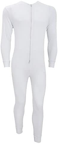 Floso Mens Thermal Underwear All in One Union Suit with Rear Flap (Standard Range) at Men's Clothing store