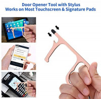 No Touch Door Opener, Door Opener Tool with Stylus, Retractable Keychain Ring and Wristlet Strap. Contactless Touchless Door Opener Keychain Tool, Social Distancing Safe Touch Tool 2 PACK