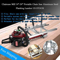 "Tengchang Portable Chain Saw Mill Log Planking Lumber Cutting fit 14"" - 24"" Chainsaw Guide Bar: Home Improvement"
