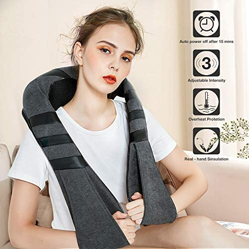 Shiatsu Neck & Back Massager with Heat,Electric Deep Tissue Kneading Neck Massager for Back,Foot,Leg,Muscle Pain Relief, Best Massage Gifts for mom,dad,Women,Men…: Health & Personal Care