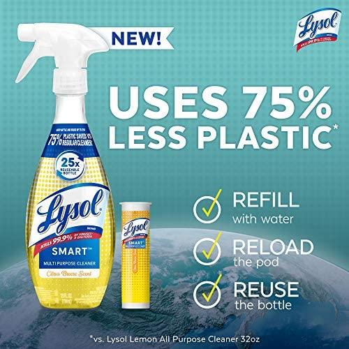 Lysol Smart Refill Cartridges, 4 Count, Multi-Purpose Cleaner, Citrus Breeze Scent: Health & Personal Care