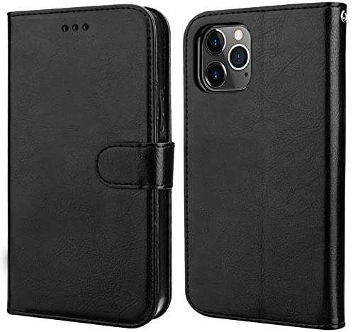 Bocasal Compatible with iPhone 12 & iPhone 12 Pro Wallet Case with Card Holder PU Leather Magnetic Detachable Kickstand Shockproof Wrist Strap Removable Flip Cover 6.1 inch (Black)