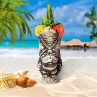 Tiki Mugs Set – Ceramic Tiki Mug, Cocktail Mugs for Mai Tai, Punch, Pina Colada, and Tropical bar Drinks (TIKISET): Kitchen & Dining