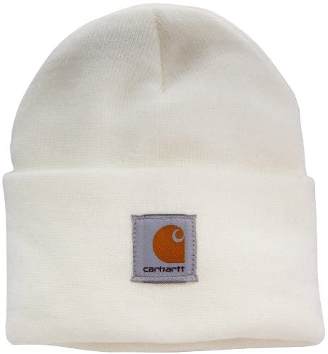 Carhartt Women's Acrylic Watch Hat, Winter White, One Size at Women's Clothing store: Cold Weather Hats