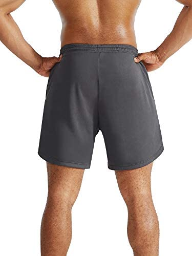 Neleus Men's 2 in 1 Running Shorts with Liner,Dry Fit Workout Shorts with Pockets: Clothing