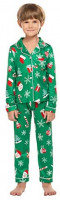 Ekouaer Christmas Family Matching Pajamas Long Sleeve Pj Set Warm Fleece Lined Festival Party Sleepwear with Button at Women's Clothing store