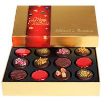 Hazel & Creme Chocolate Cookies Gift Basket, MERRY CHRISTMAS Elegant Box, Corporate Holiday Gifting : Grocery & Gourmet Food