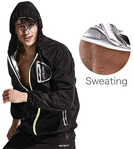 HOTSUIT Sauna Suit Men Weight Loss Anti Rip Sweat Suits Workout Jacket : Sports & Outdoors