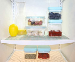 """ACHub BPA Free, Antibacterial Refrigerator Shelf Liner, Wider Roll (60"""" x 16"""") Fridge Liner, Non Adhesive, Customizable Size, Washable Refrigerator Liner, Easy to Clean & Durable Kitchen Fridge Mat"""