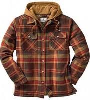 Legendary Whitetails mens Maplewood Hooded Shirt Jacket: Clothing