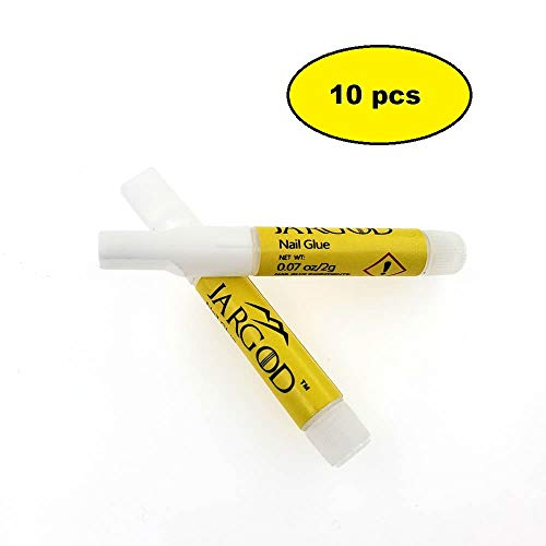 Jargod Nail glue for Artificial Nails & Nail Tips 10 pcs : Beauty