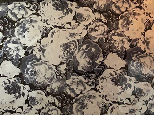 "Metallic Foil - Dominic Flowers - Decorative Trasfer Roll 12"" x 15'"