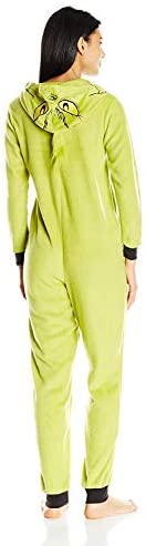 Dr.Seuss Women's Grinch Hoodie Union Suit: Clothing
