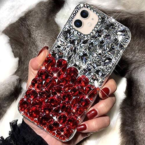PHEZEN Bling Diamond Samsung Galaxy A20S Case 3D Handmade Glitter Sparkle Bling Rhinestone Case Girls Women,Shiny Crystal Diamond Bumper Protective TPU Case Cover for Galaxy A20S,Clear: Kitchen & Dining