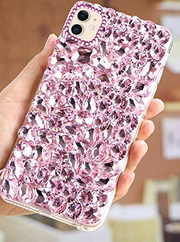 PHEZEN Bling Diamond Samsung Galaxy A20S Case 3D Handmade Glitter Sparkle Bling Rhinestone Case Girls Women,Shiny Crystal Diamond Bumper Protective TPU Case Cover for Galaxy A20S,Black: Kitchen & Dining