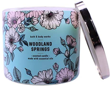 Bath and Body Works White Barn Woodland Springs 3 Wick Candle 14.5 Ounce: Home & Kitchen