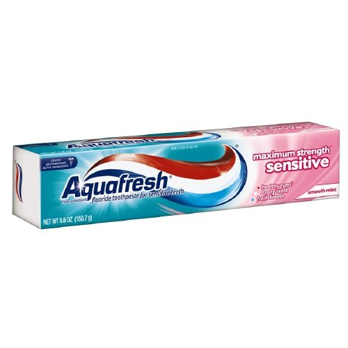 Aquafresh Sensitive Maximum Strength Toothpaste 5.6 Oz (Pack of 6) : Beauty