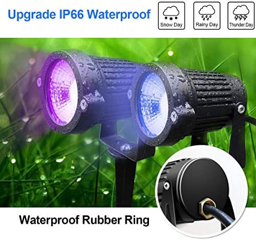 LED Landscape Color Changing Lights DOREIO 10W RGB 12V 24V Low Voltage Lighting IP66 Waterproof LED Floodlight Garden Yard Outdoor Decorative Landscaping Spotlights: Home Improvement