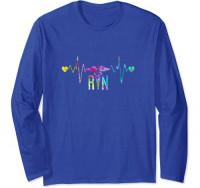 Lovely RN Registered Nurse Tie Dye - Nurse Tshirts for Women Long Sleeve T-Shirt: Clothing