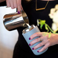 Fellow Carter Everywhere Mug, Vacuum Insulated w/True Taste Ceramic Coating, Matte Black 12oz: Kitchen & Dining