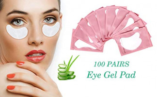 100 Pairs Set Gel pads for eyelash extensions, Comfy and Cool Under Eye Pads for Eyelash Extensions Eye Patches Beauty Tool: Beauty